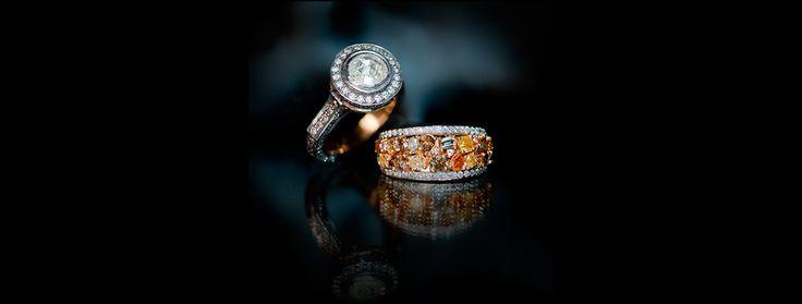 Gorgeous Colour Diamond Rings.