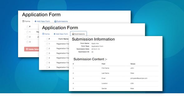 FCP Form Builder . It makes you manage your Wordpress forms options as well as your form submissions from your Wordpress dashboard all the time. You do not need to worry about email notification issues any more as our Wordpress form builder stores your form submissions in your database and displays them in your