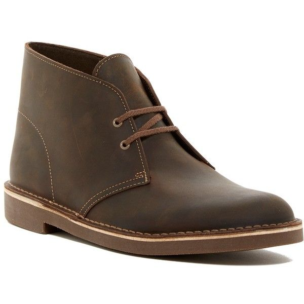 Clarks Bushacre Leather Chukka Boot- Multiple Widths Available ($70) ❤ liked on Polyvore featuring men's fashion, men's shoes, men's boots, mens leather lace up boots, mens wide width work boots, mens wide shoes, mens leather lace up shoes and clarks mens boots