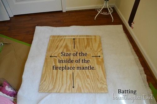 fireplace mantle headboard