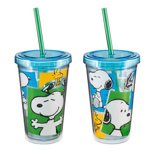 Let Snoopy take your thirst away! The Peanuts Snoopy Travel Cup is just what fans of Peanuts need for their cold beverages.