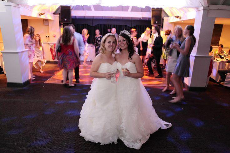 Bride and bridesmaid photo taken at Rowhill Grange.