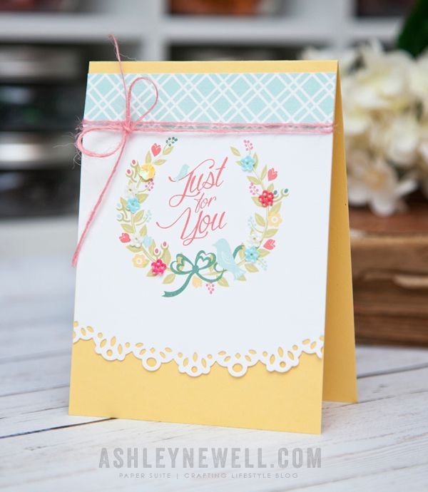 Just For You Card by Ashley Cannon Newell for Papertrey Ink (February 2015)