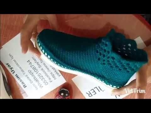 Yeni İç Dış Botu Tığ İşi Modeli - YouTube