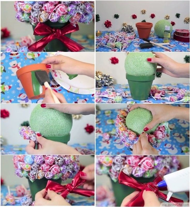DIY Lollipop Bouquet Step by Step diy crafts projects arts & crafts handmade homemade gift christmas gifts gift ideas. homemade gifts step by step