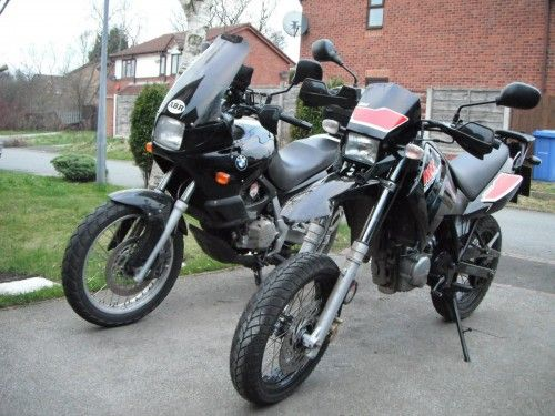 BMW F650 (Funduro) Both of these bikes have been stolen from a house in Manchester.  Do you know where they are?