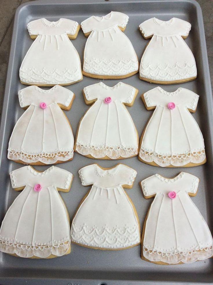 Little Christening Dress Cookies