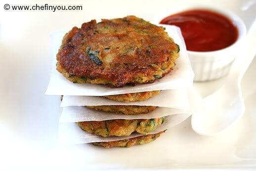 Zucchini Potato Fritters Recipe | Pan Fried Zucchini Patties | Chef In You egg dairy and peanut free!  Very tasty, might try them in mini muffin pan to bake!  Would make a larger batch since I bothered to get out the food processor!