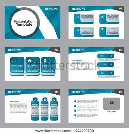 abstract vector business blue set presentation template slides background design
