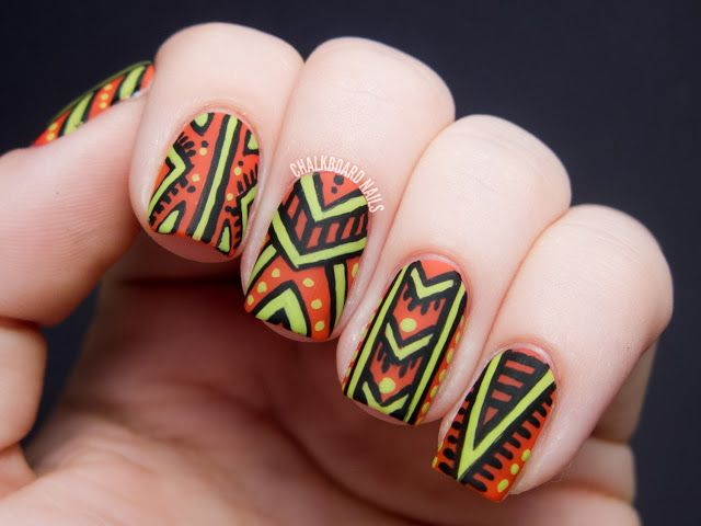African Patterned - Nicole by OPI Tink Nail Art - 95 Best African Inspired Nails Images On Pinterest Belle Nails