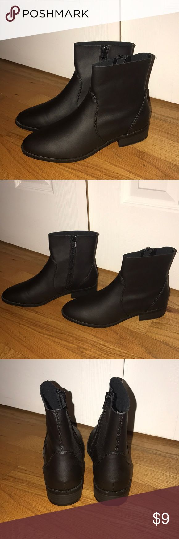 Black faux leather ankle boot Never worn, brand new. Primark Shoes Ankle Boots & Booties
