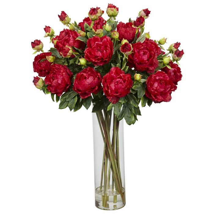 49 best red silk floral images on pinterest silk flowers silk giant peony red silk flower arrangement with vase and presented by excellentsilkflowers mightylinksfo Choice Image