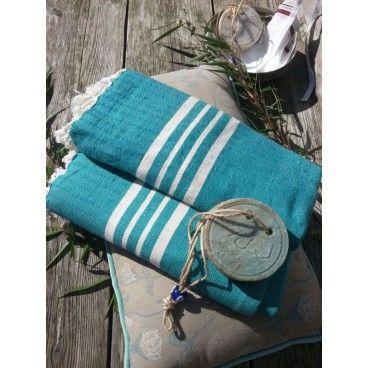 Bawełniany, delikatny, ręcznie tkany, miękki ręcznik. 100x170 cm