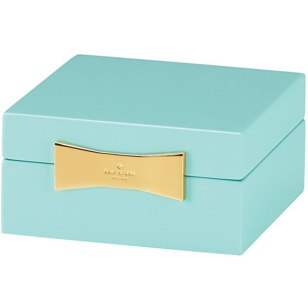 kate spade new york Garden Drive Square Jewellery Box - Turquoise (855 ZAR) ❤ liked on Polyvore featuring home, home decor, jewelry storage, decor, filler, turquoise, jewelry trinket box, kate spade home decor, jewelry chest and engraved jewelry box