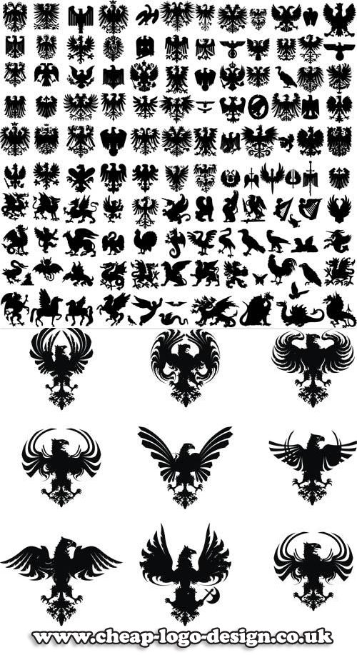 heraldic logo ideas www.cheap-logo-design.co.uk #heraldry #heraldiclogo #eaglelogo