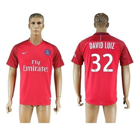 PSG 16-17 #David Luiz 32 Udebanetrøje Kort ærmer,208,58KR,shirtshopservice@gmail.com