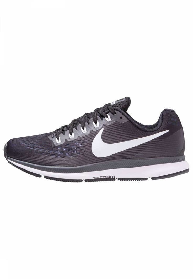 AIR ZOOM PEGASUS 34 - Laufschuh Neutral - black/white/dark grey/anthracite