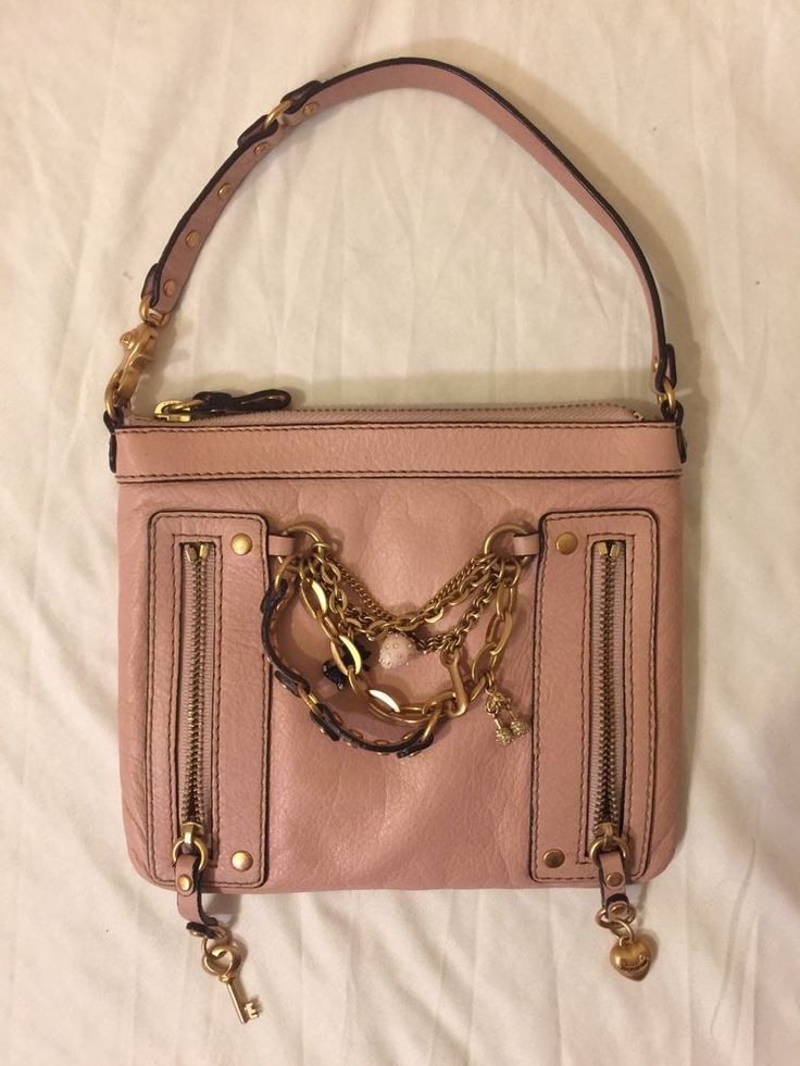 Juicy Couture Purse Pink Leather Small Hanging Charms Women'S | eBay