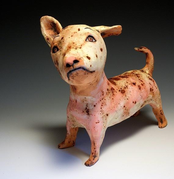 Red Dog - Jenny Mendes - Ceramic Sculpture