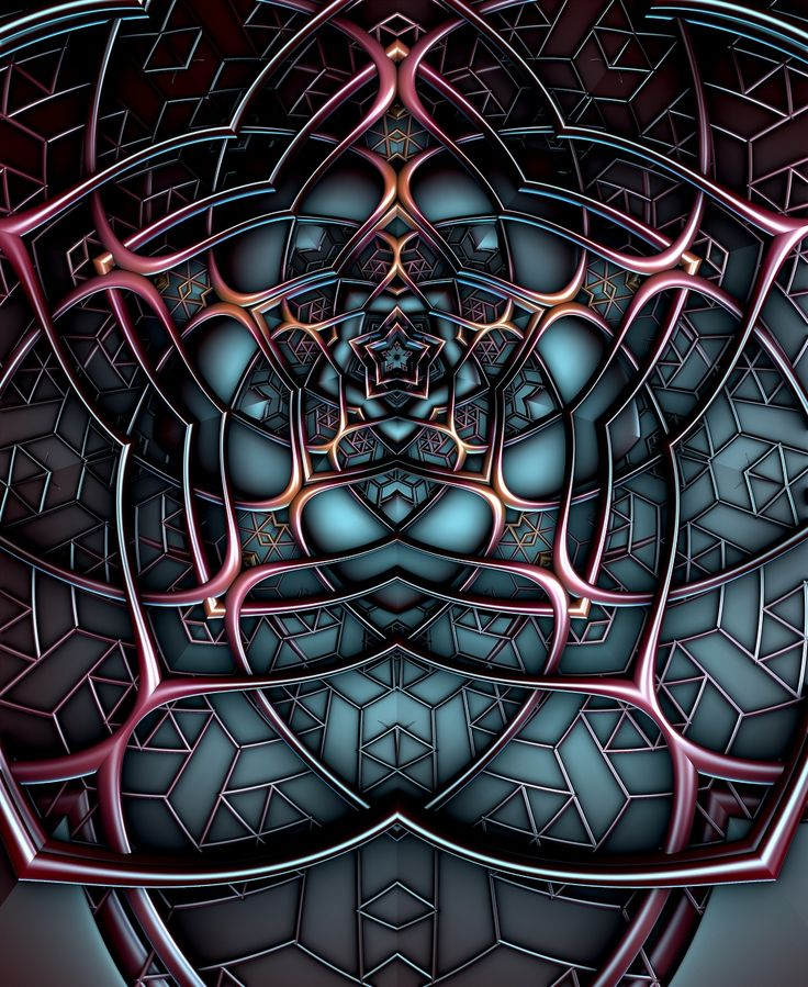 Fractal Art Design Pin by Paul Gri...