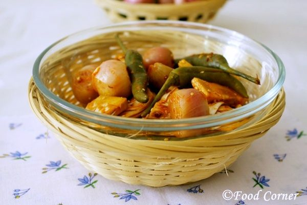 Pickle with young jack fruit (Polos Achcharu)