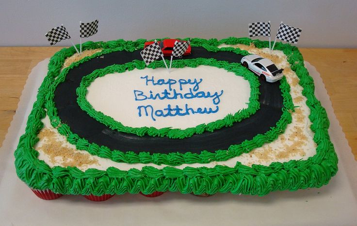 Race Track Cupcake Cake Cupcake Cakes Cupcake Pull