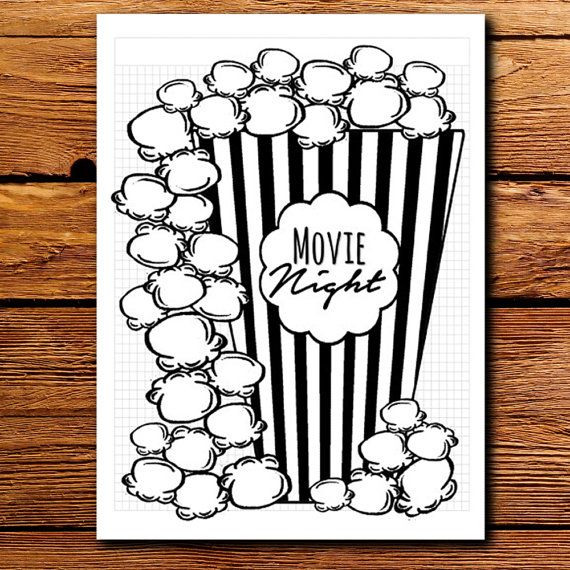 Do you just LOVE all those pretty bullet planner designs but dont have the time to sit down with a ruler and pen to make your own on graph paper? Now you can MAKE your movie list with this CUTE rough popcorn themed bullet journal printable planner insert set. <---The best part is you can print more OUT whenever you need to add to your lists! This kit includes the following pages (4 Total)  -Movie Night Popcorn Bucket -Popcorn (extended movie list) -In the Theater -Movie Review    ❯❯ DETAILS…