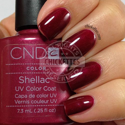 CND Shellac Masquerade Swatch by Chickettes.com