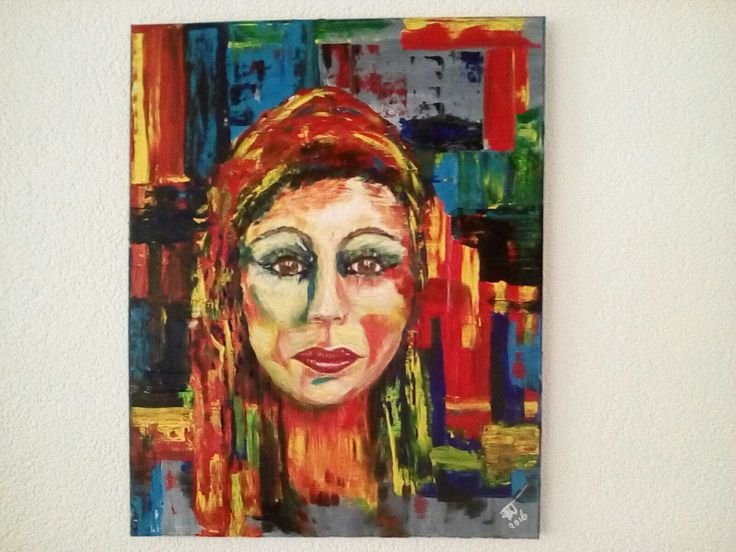 portret in acrylverf