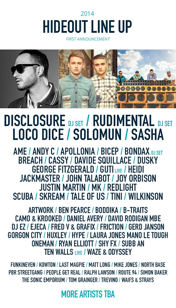 Hideout Festival 2014 First Phase Lineup Announced