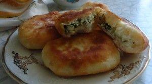 #пирожки_жареные со щавелем и зеленым луком