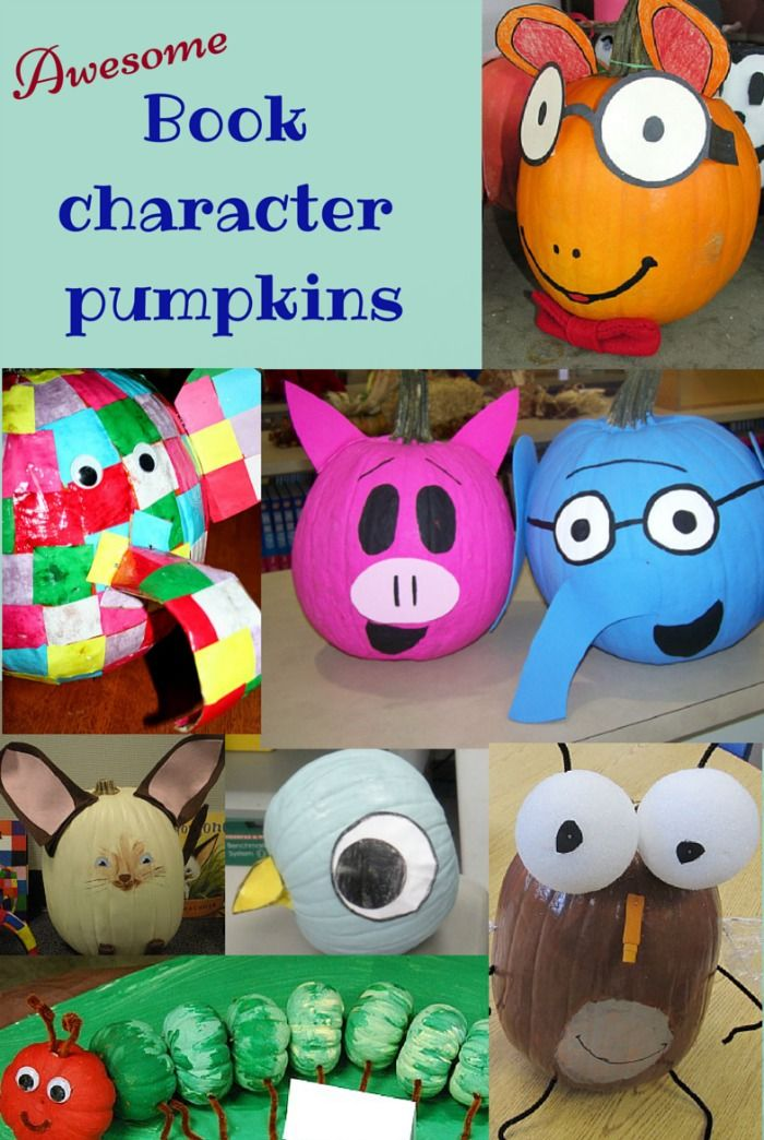 Image result for book character pumpkins