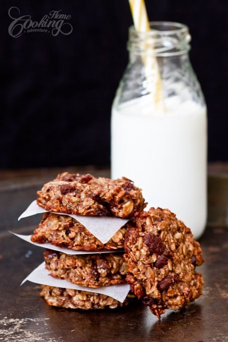 Oatmeal Banana Chocolate Breakfast Cookies