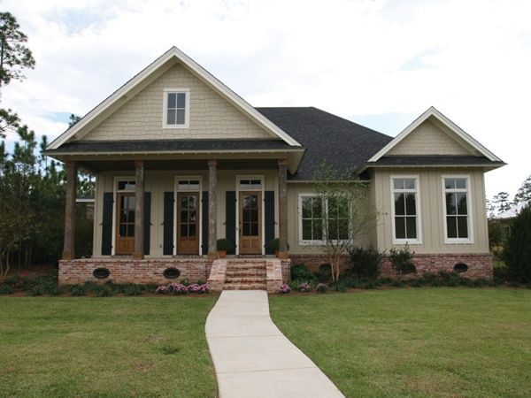acadian style homes love the window style board and