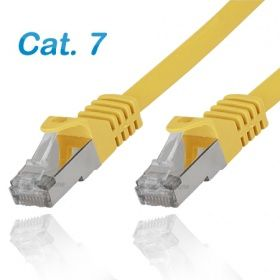 Cat.7 Patchkabel RJ45 LAN Kabel S-FTP/PIMF gelb