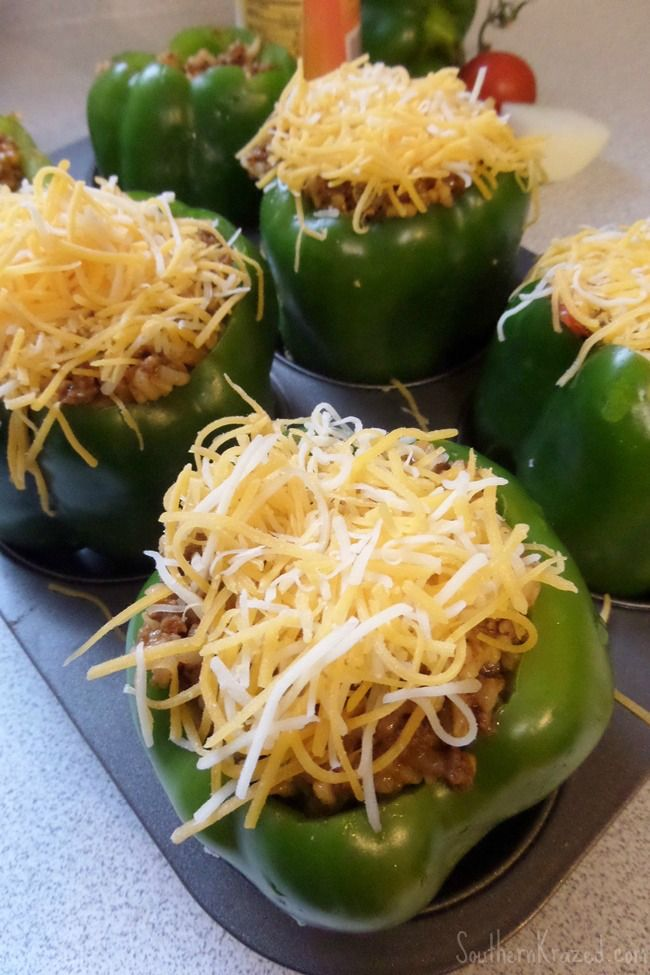 Easy Southwest Stuffed Peppers Recipe http://southernkrazed.com/2014/08/easy-southwest-stuffed-peppers-recipe/
