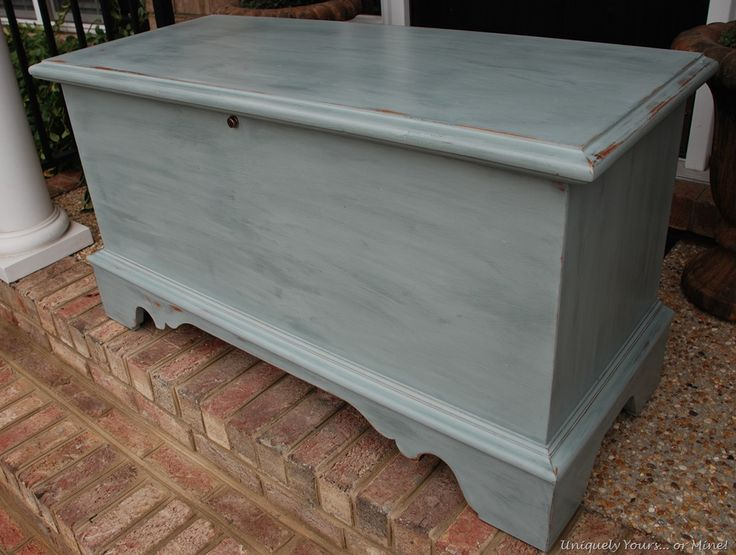 Renewed Cedar Chest I am SO DOING THIS with mine.  I have this exact chest... now I know what to do!