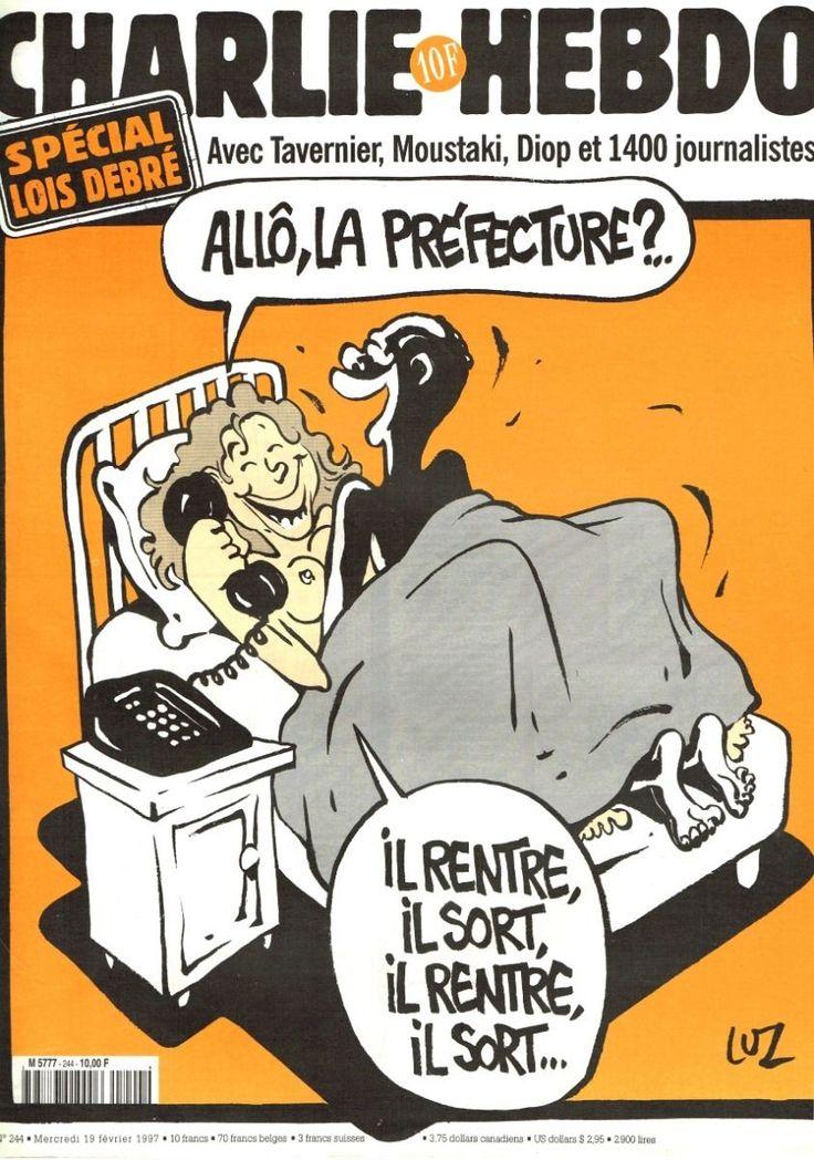 Charlie Hebdo - # 244 - 19 Février 1997 - Couverture : Luz