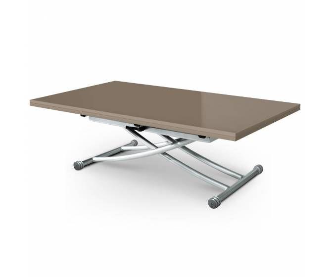 Able Basse Relevable Taupe Laque Est Une Table Basse Modulable Table Extensible Bois Table Basse Modulable Table Basse Relevable