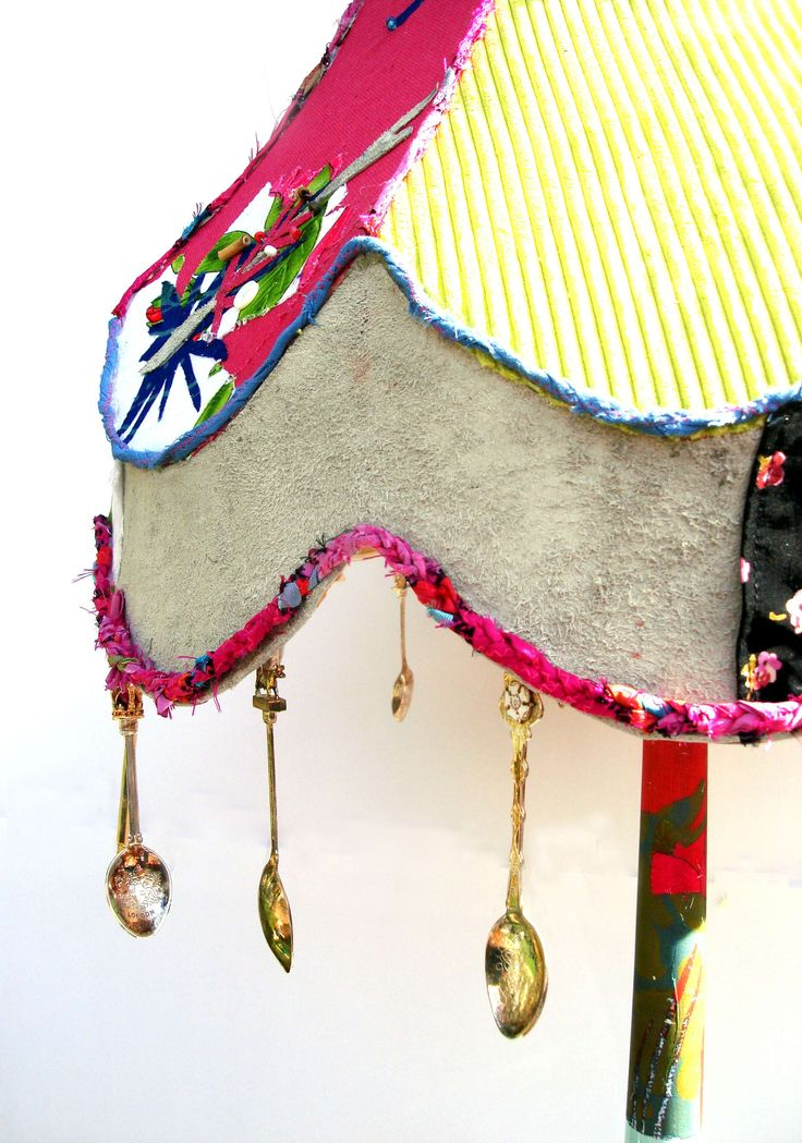 Upcycled Lampshade by Lucy Renshaw. Check out her workshop at The MAking House on Sat 12th July