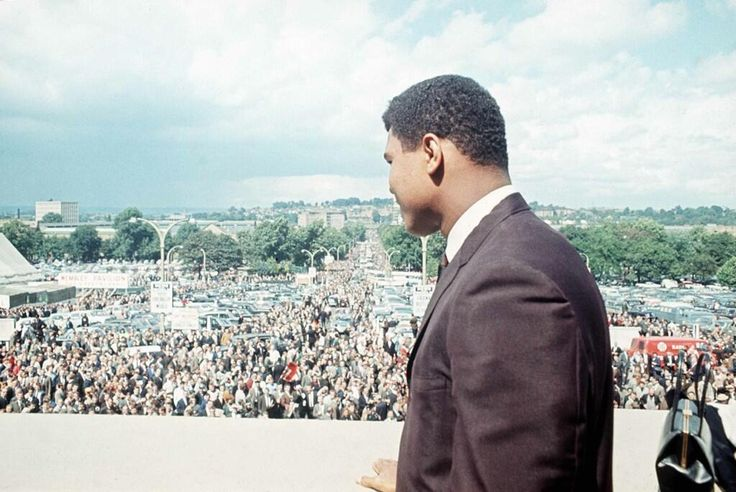 Muhammad Ali at Wembley for the1966 World Cup Final