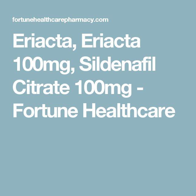 Eriacta, Eriacta 100mg, Sildenafil Citrate 100mg - Fortune Healthcare