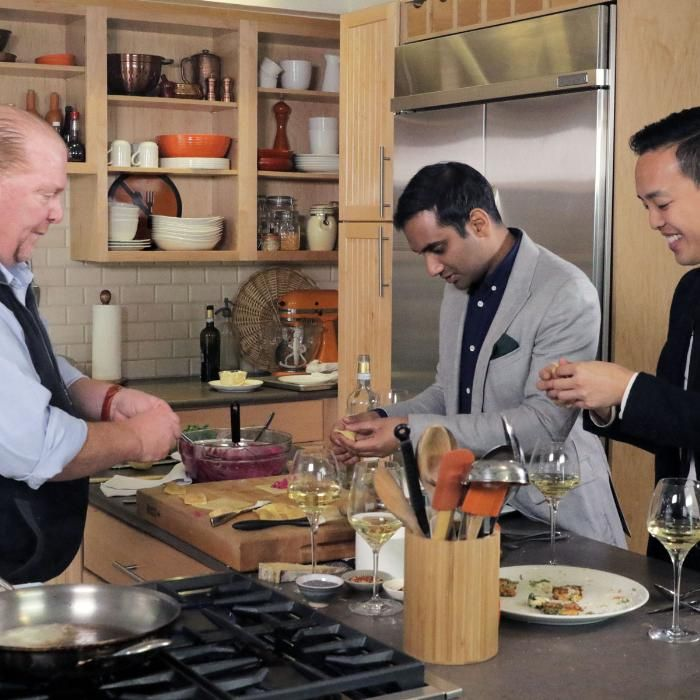 What happens when the creators of 'Master of None', Aziz Ansari and Alan Yang, hang out with the Master of Lunch, Mario Batali? A lot of eating and drinking.