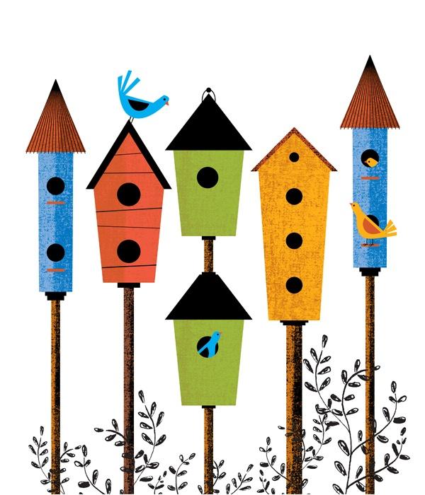 bird house cartoon images - Google Search