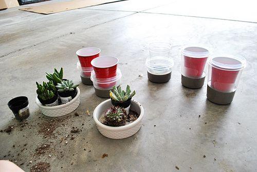 wikiHow to Make Concrete Planters -- via wikiHow.com