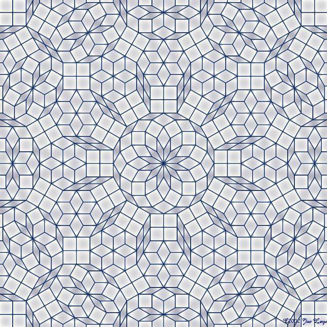 penrose tiling hyperbolic - Google Search