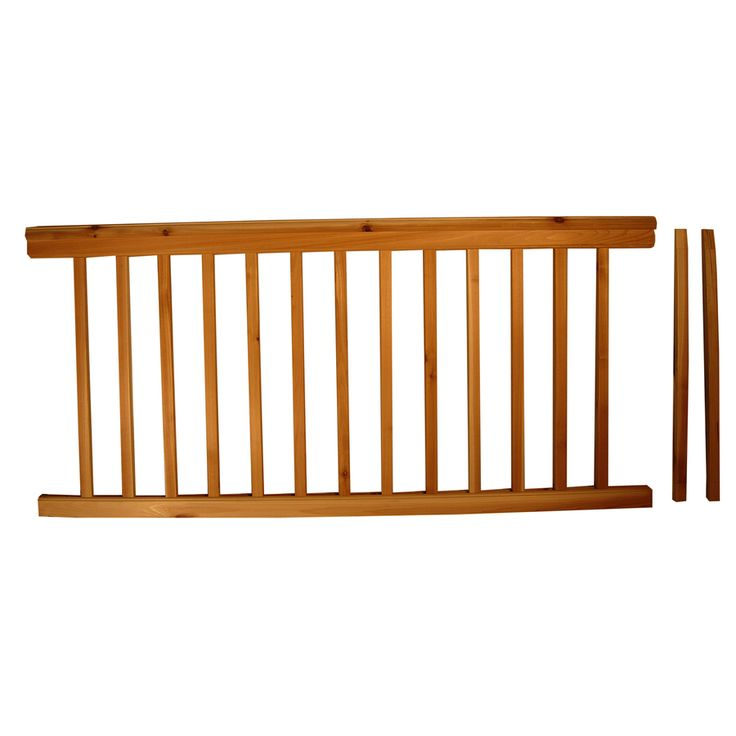 Top choice instarail natural redwood deck railing kit assembled x 3 ft planning - Lowes deck railing systems ...