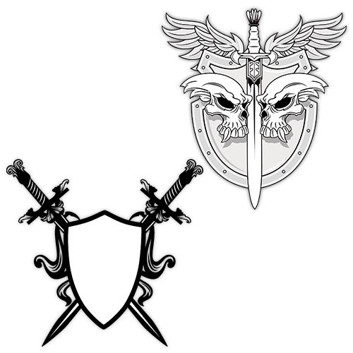 28 Sword Tattoo Designs Ideas: 25+ Best Ideas About Shield Tattoo On Pinterest
