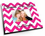 """Our new Sorority Chevron picture frame comes in vibrant full color and has your sorority name popping off the frame with vividness.  Each sorority picture frame measures 8""""x10"""" and fits 4x6 photos."""