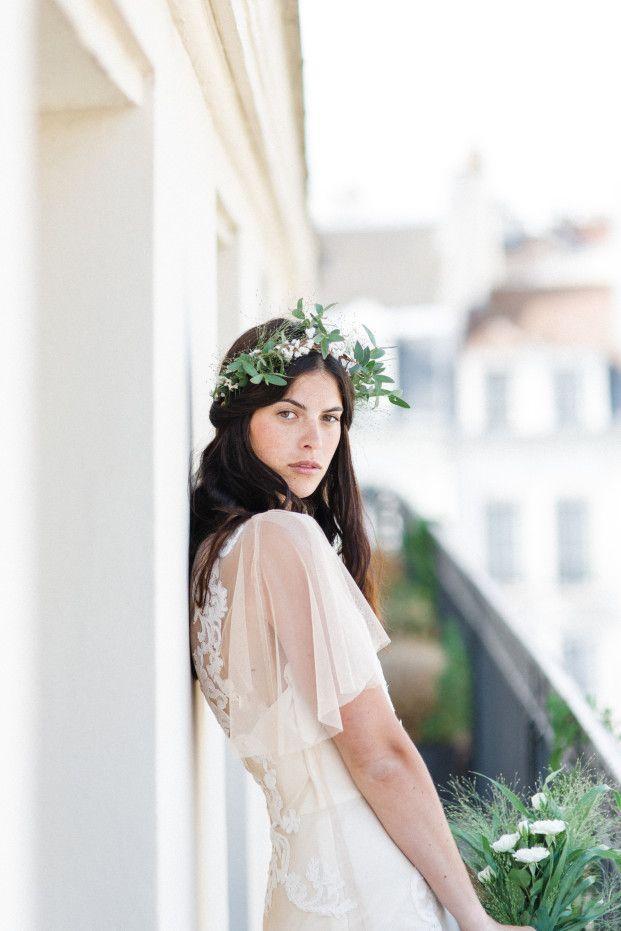 Jean Laurent Gaudi - Rue de Seine Robe de mariee - Une mariee dans paris - La mariee aux pieds nus